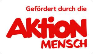 """Logo """"gefördert druch die Aktion Mensch"""", Schriftzug"""