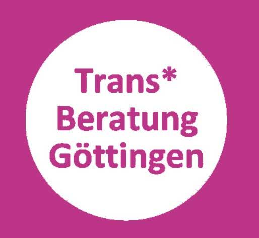 Logo Trans* Beratung Göttingen: Test auf weißem Kreis.