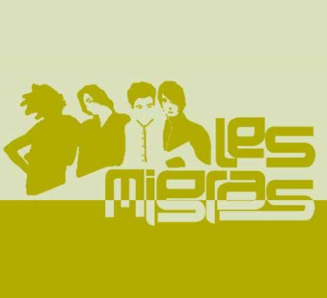Logo LesMigres: Schriftzug und Silhouette einer Personengruppe in Rechteck.