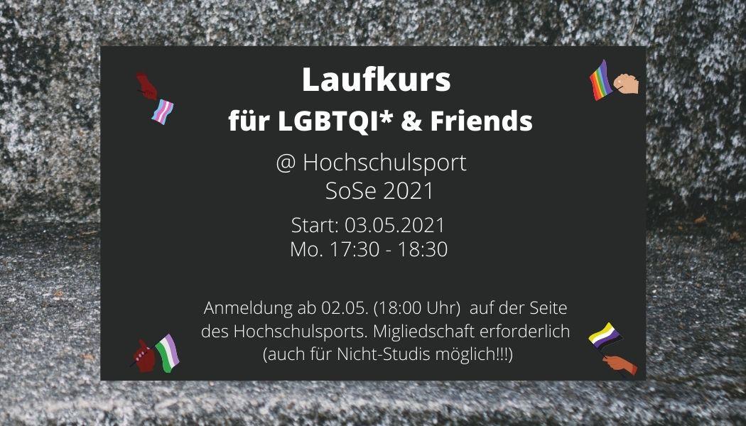 Laufkurs für LGBTQI* und Friends