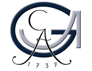 Logo der Uni Göttingen: Die Buchstaben G und A ineinander verflochten