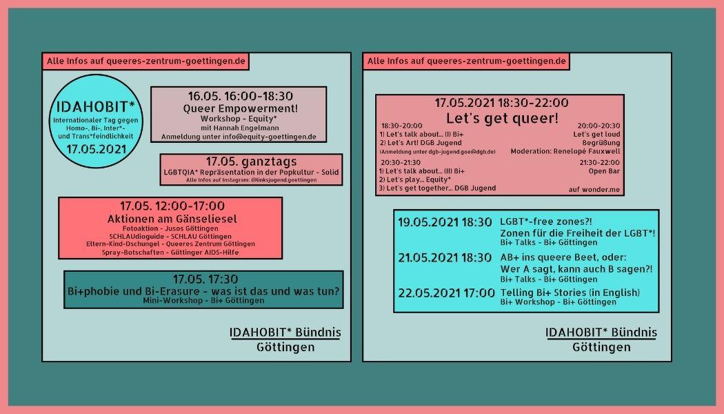 You are currently viewing IDAHOBIT* Göttingen 2021: Das Veranstaltungsprogramm