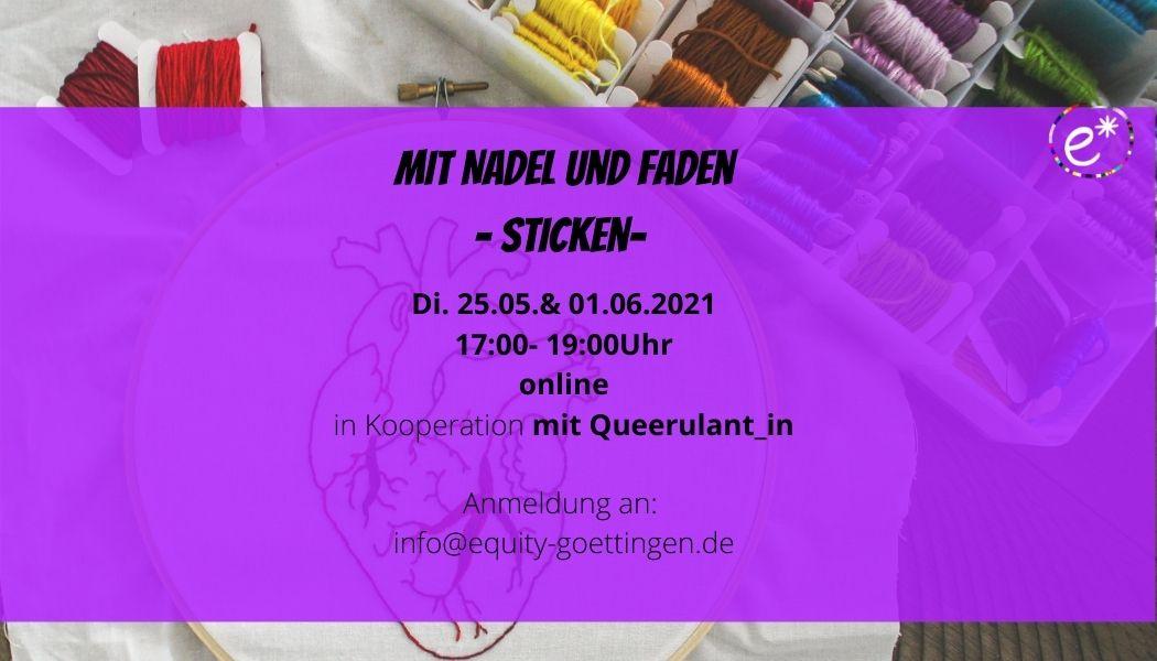 You are currently viewing Mit Nadel und Faden – Sticken