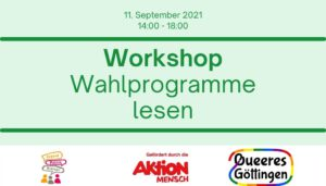 Read more about the article Workshop: Wahlprogramme lesen
